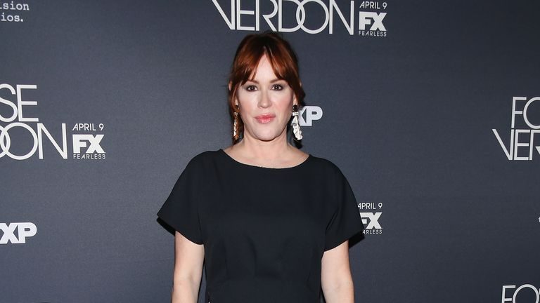 """NEW YORK, NEW YORK - APRIL 08: Actress Molly Ringwald attends the New York Premiere for FX's  """"Fosse/Verdon"""" on April 08, 2019 in New York City. (Photo by Nicholas Hunt/WireImage,)"""