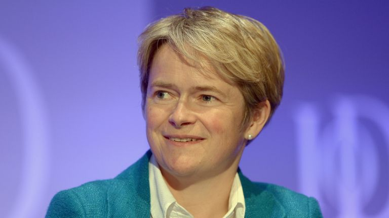 Dido Harding, CEO TalkTalk, speaks during the Institute of Directors annual conference at the Royal Albert Hall, London.