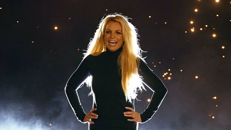"LAS VEGAS, NEVADA - OCTOBER 18:  Singer Britney Spears attends the announcement of her new residency, ""Britney: Domination"" at Park MGM on October 18, 2018 in Las Vegas, Nevada. Spears will perform 32 shows at Park Theater at Park MGM starting in February 2019.  (Photo by Ethan Miller/Getty Images)"