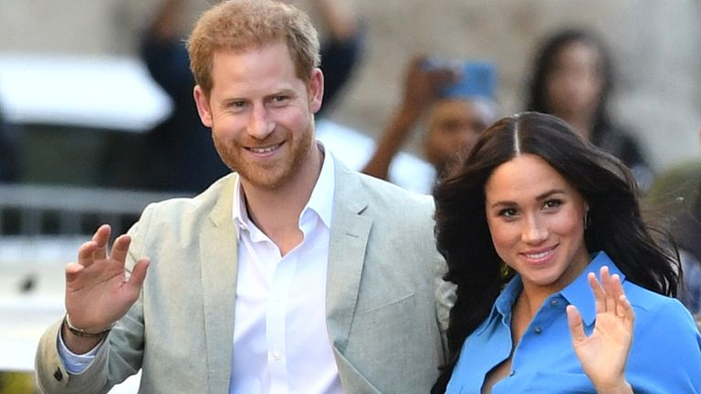 File photo dated 23/09/19 of The Duke and Duchess of Sussex on a visit to the District Six Museum in Cape Town, South Africa. The Duchess of Sussex's impassioned black lives matter speech has been hailed as incredibly powerful, but could have been even more so if she had been a working royal, a royal commentator has said.