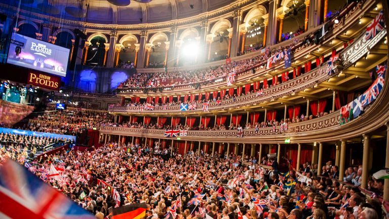 Members of the audience during the Last Night of the Proms at the Royal Albert Hall, London.