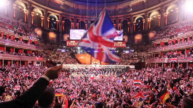 General view of the Royal Albert Hall in London during the Last Night of The Proms.