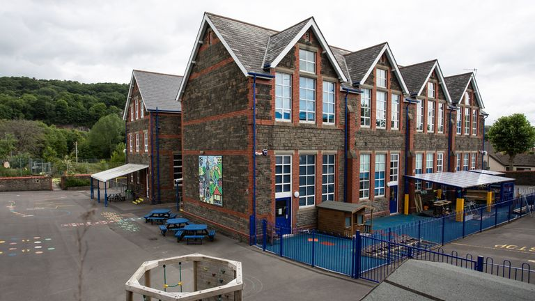 TREFOREST, WALES - JUNE 4: A general view of Parc Lewis School on June 4, 2020 in Treforest, Wales, United Kingdom. Schools in Wales are due to reopen at the end of June with and extended term. (Photo by Huw Fairclough/Getty Images)