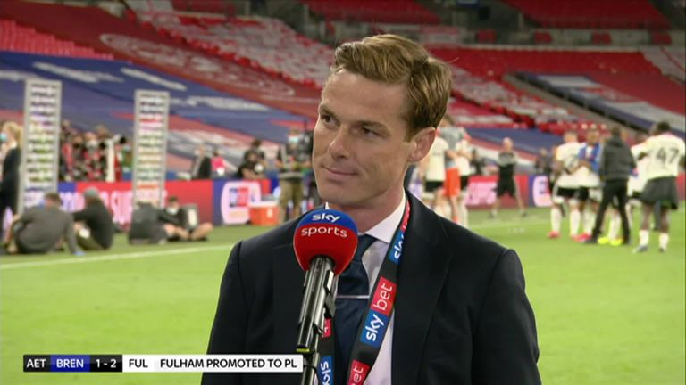 Fulham boss Scott Parker gave an emotional post-match interview after their Championship play-off final win against Brentford, saying he was proud of how his team responded to last seasons relegation