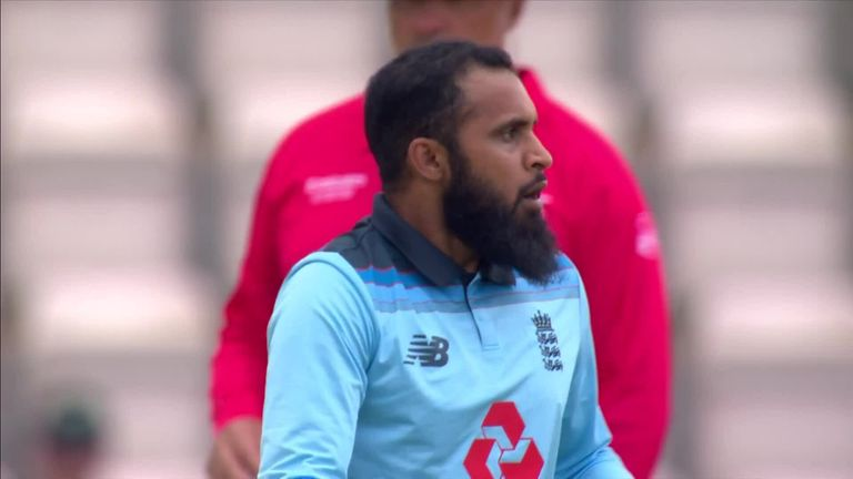 Adil Rashid took 3-34 and dismissed Kevin O'Brien with a brilliant googly