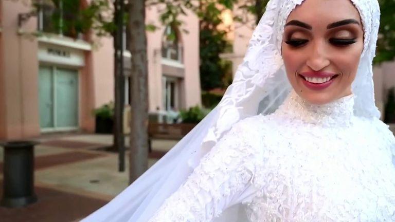 Beirut bast captured during bride's photoshoot