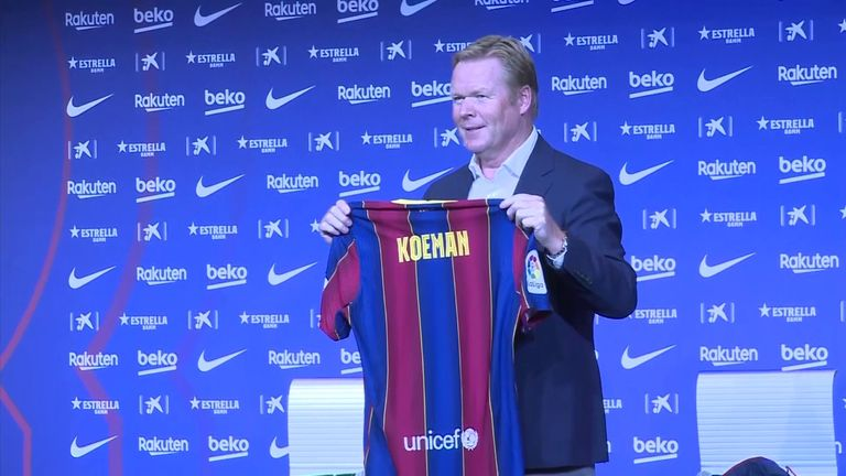 New Barcelona head coach Ronald Koeman says he will not lead a 'revolution' at the club after he was appointed on a two-year deal following Barca's 8-2 to Bayern Munich in the Champions League