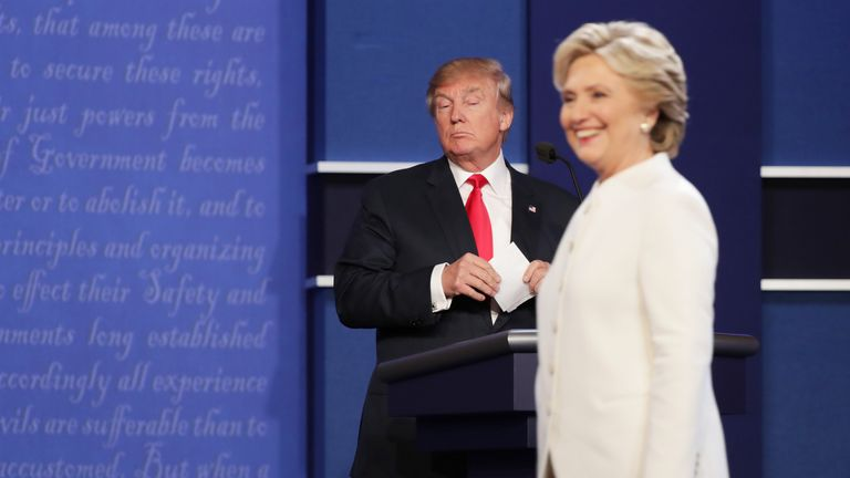 During the 2016 election campaign, Mr Trump repeatedly referred to Hillary Clinton has 'crooked Hillary'