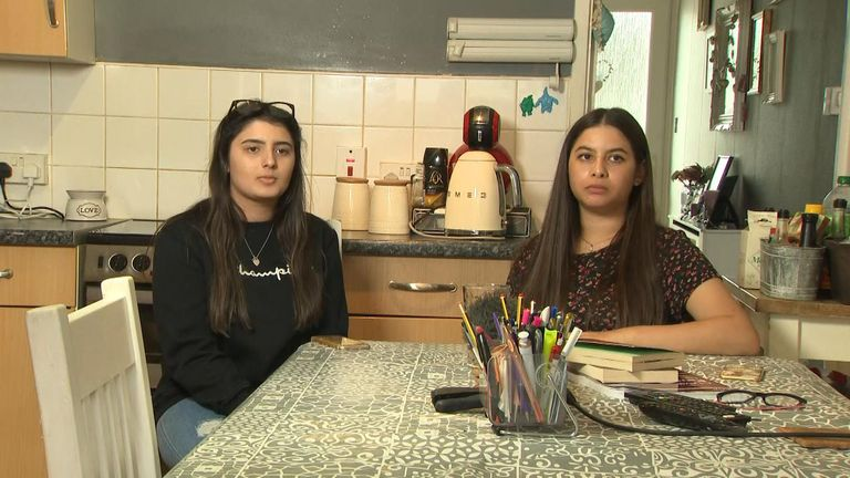 Tiffany and Kayla Veerasawmy were very anxious  about the way their grades were determined
