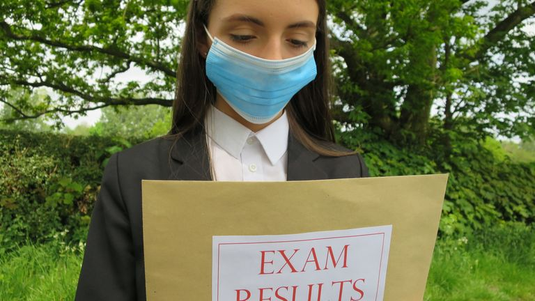 The exams themselves were cancelled because of the coronavirus epidemic