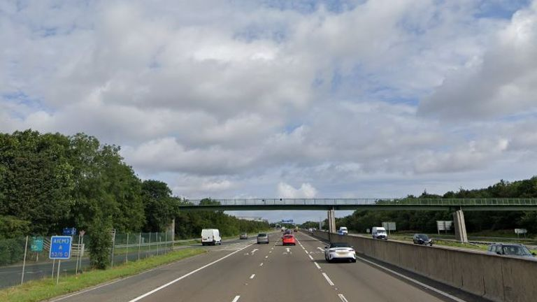 The carriageway was shut in both directions. Pic: Google Street View