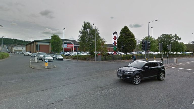 The toddler was hit at the junction of Eastgate and Eastgate Retail Park on 29 August. Pic: Google Streetview