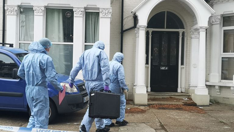 Forensic experts head to the property in Acton