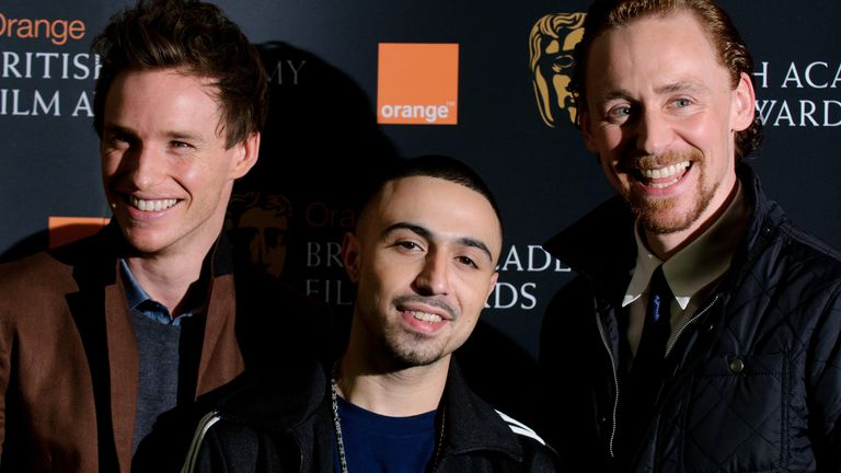 Eddie Redmayne, Adam Deacon and Tom Hiddleston attend the Orange Wednesdays Rising Star Award - Nominee Shortlist Announcement at BAFTA on January 11, 2012 in London