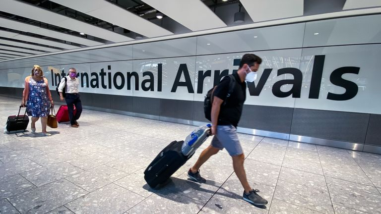 Arrivals at Heathrow Airport