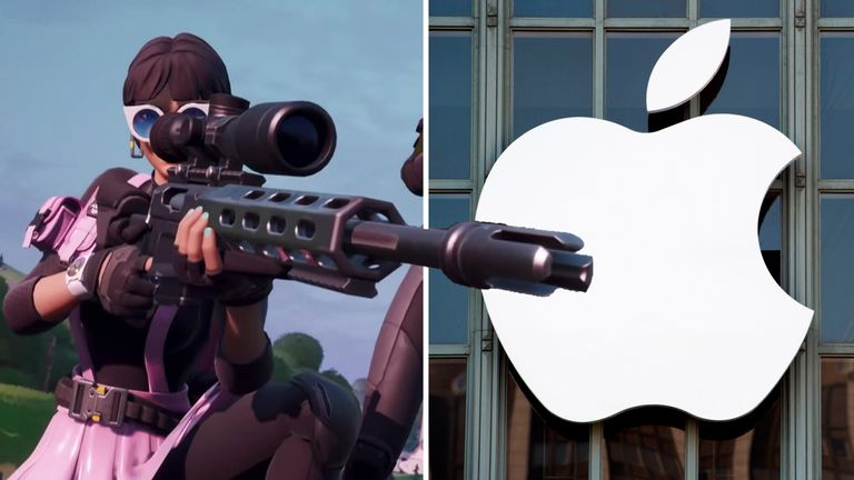 Apple is locked in a bitter dispute with the maker of Fortnite