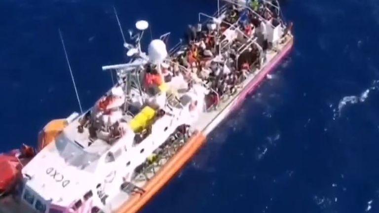 Banksy sponsored boat is stuck in the Mediterranean