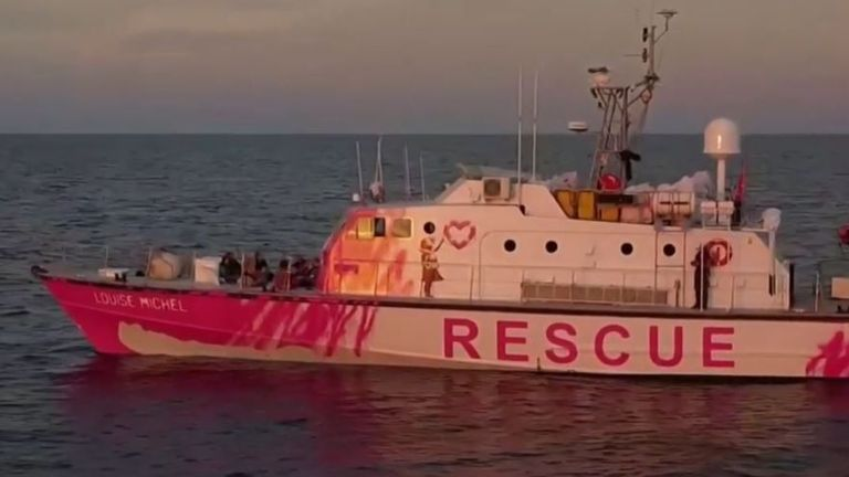 Banksy funds boat to rescue migrants in Mediterranean