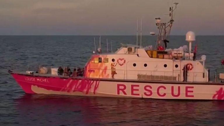 Banksy funds boat to rescue migrants in Mediterranean