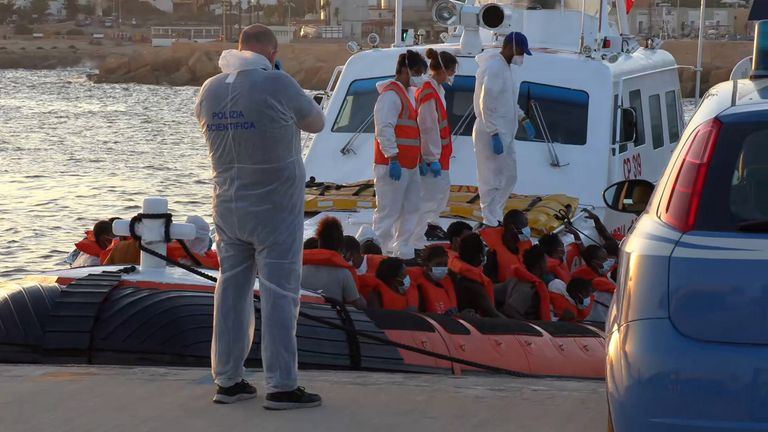49 migrants were rescued by the Italian coast guard and taken to Lampedusa