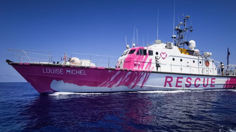 The Banksy-funded rescue vessel the Louise Michel