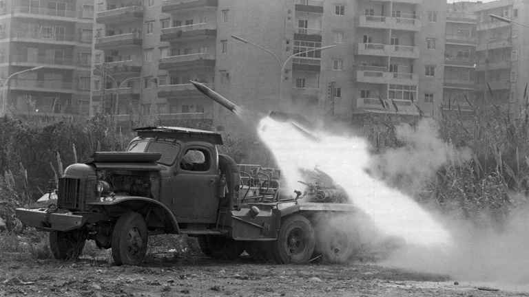 The Lebanese Civil War started in 1975 and lasted until 1990