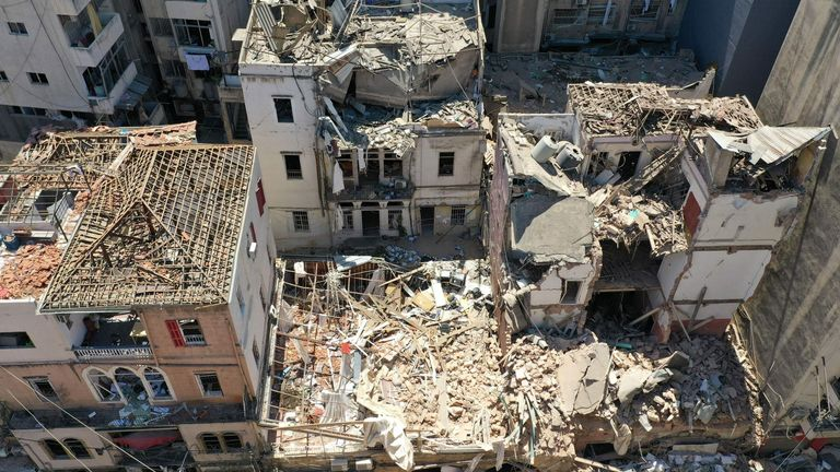 The explosion destroyed buildings in Lebanon's capital