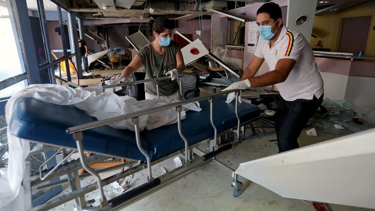Several hospitals were severely damaged in the blast