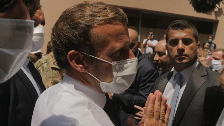 Emmanuel Macron in Beirut