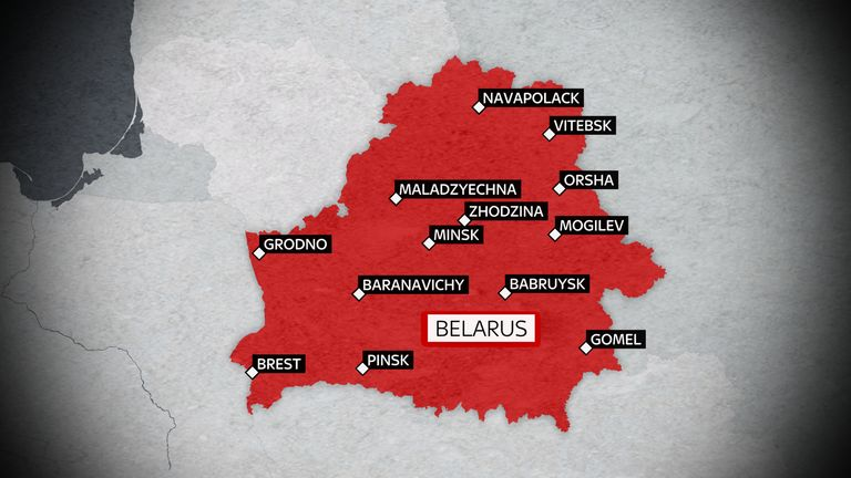 Protests have been taking place in cities across Belarus