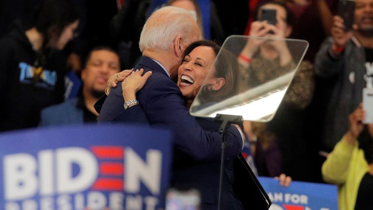 Democratic presidential nominee Joe Biden has selected Kamala Harris as his running mate