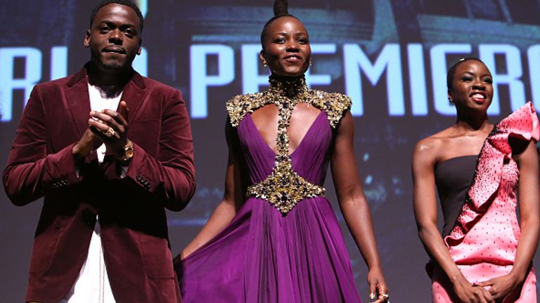 The film's majority black cast also included Daniel Kaluuya, Lupita Nyong'o and Danai Gurira