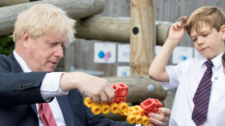 Boris Johnson at a school in Kent last month