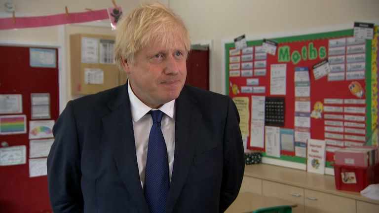 boris johnson pm on schools