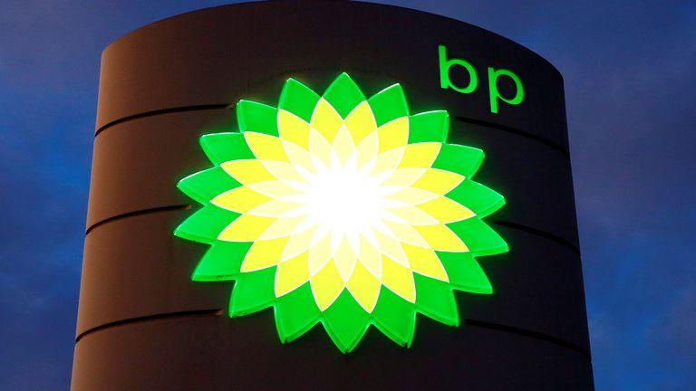 The logo of BP