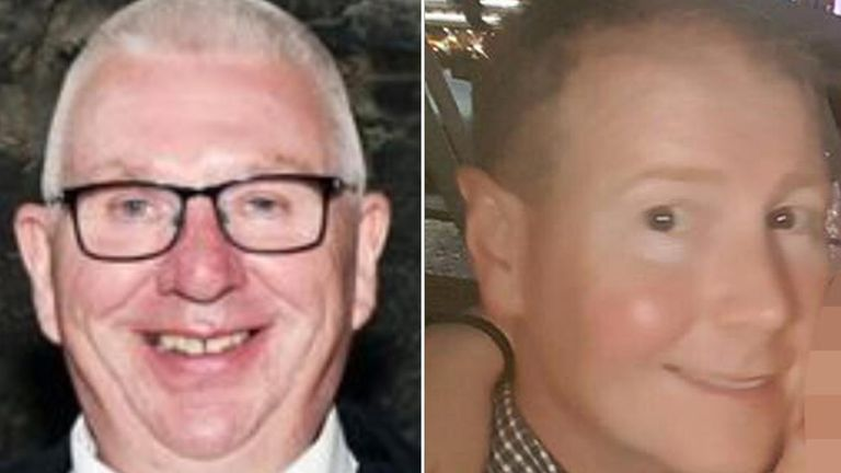 Conductor Donald Dinnie (L) and driver Brett McCullough were killed in the crash