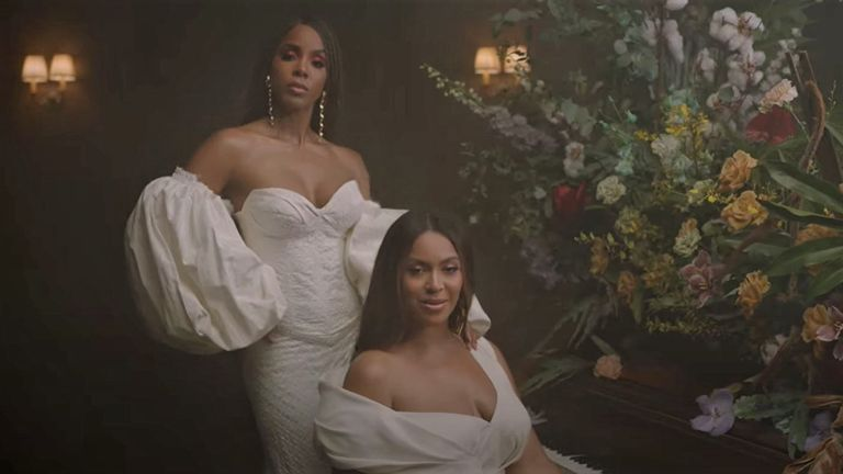Kelly Rowland in Beyonce's Brown Skin Girl video. Pic: Beyonce/ YouTube