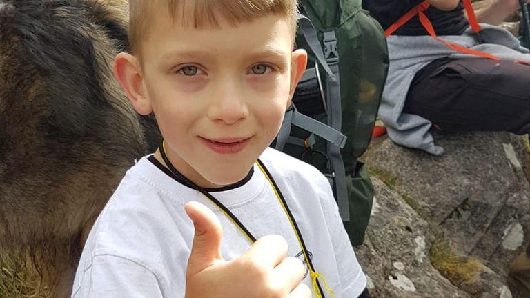 Caeden Thomson reached the summit of Ben Nevis on Saturday