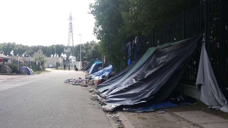 There is continuing talks aiming to reduce the number of migrants attempting crossings and remove the jungle camp