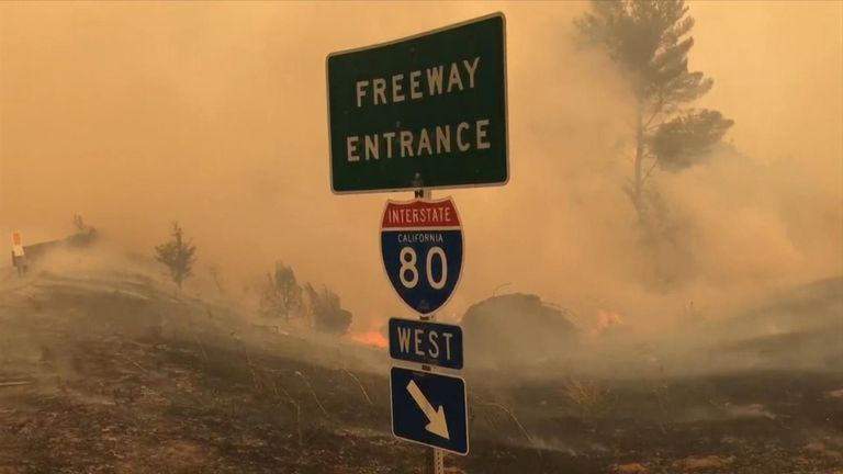 Wildfires in CA