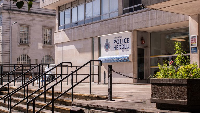 PC Jemma Dicks and Adam Reed engaged in sex acts at Cardiff Central police station three times