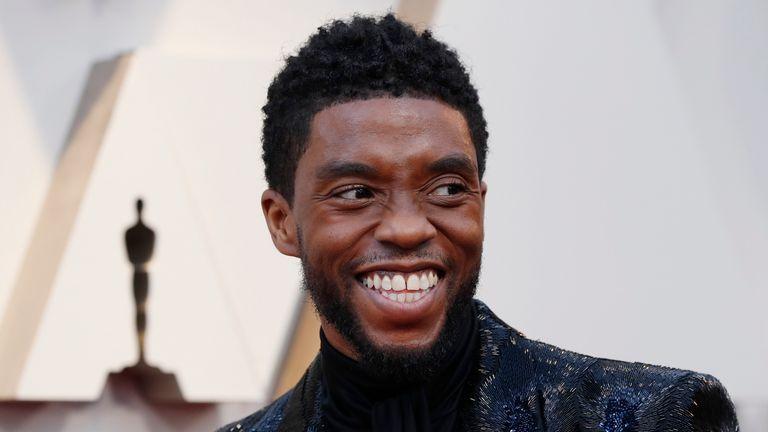 Chadwick Boseman at the Oscars in 2019