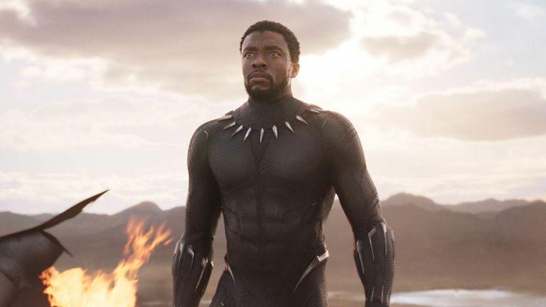 Black Panther star Chadwick Boseman. Pic: Marvel/Disney/Kobal/Shutterstock