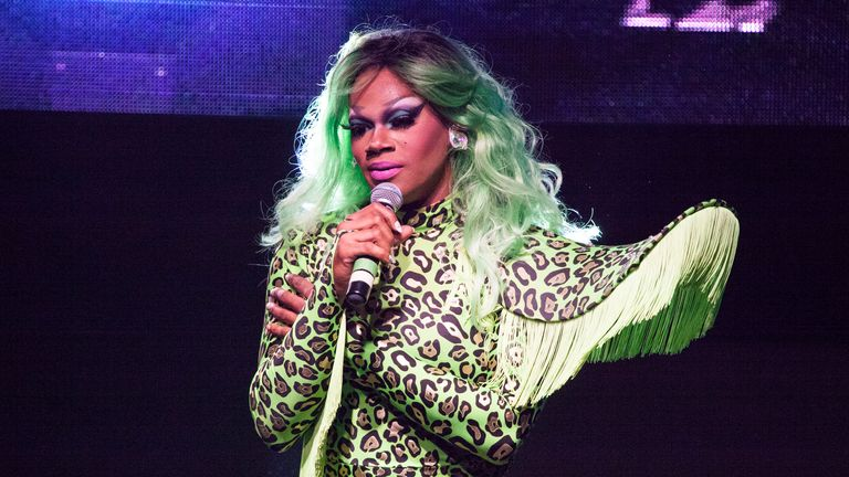 Drag Race Season 8 Finale Party NEW YORK, NY - MAY 16: Chi Chi Devayne onstage during RuPaul's Drag Race Season 8 Finale Party at Stage 48 on May 16, 2016 in New York City. (Photo by Santiago Felipe/Getty Images)