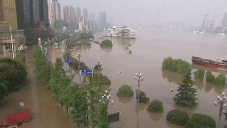 Large parts of Chongqing Municipality in China are under water