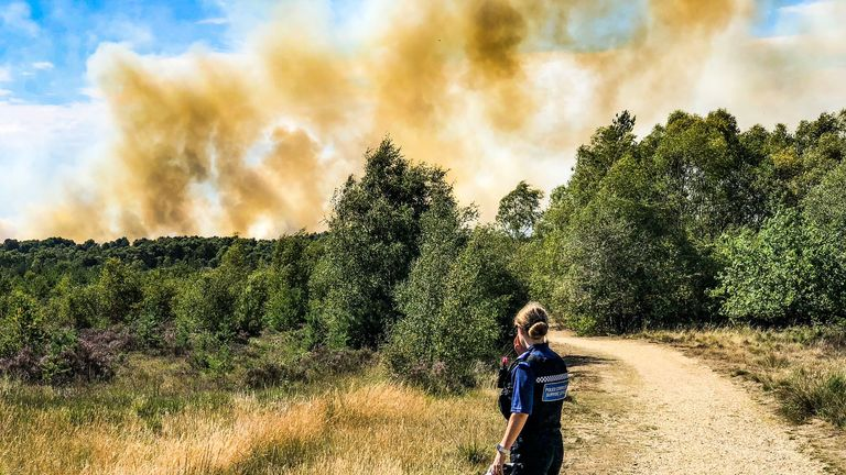 Fire at Chobham Common