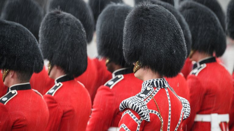 Three Coldstream Guards are being investigated by the police. File pic