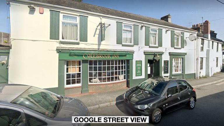 Police said the baby hit its head on the table during the fight in Plymouth