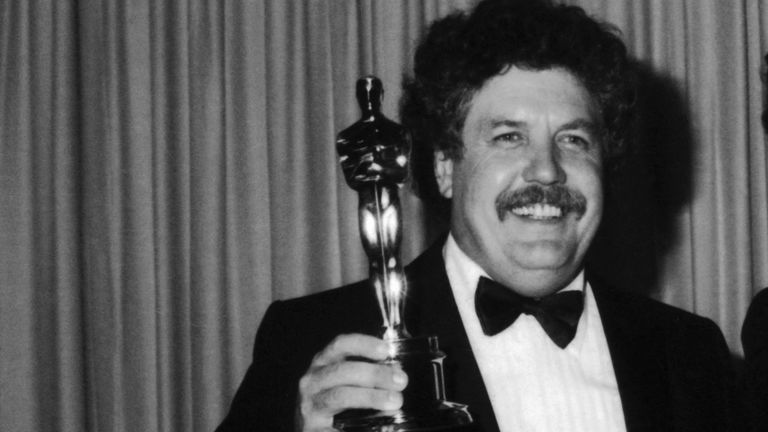 Colin Welland with his Oscar for best screenplay