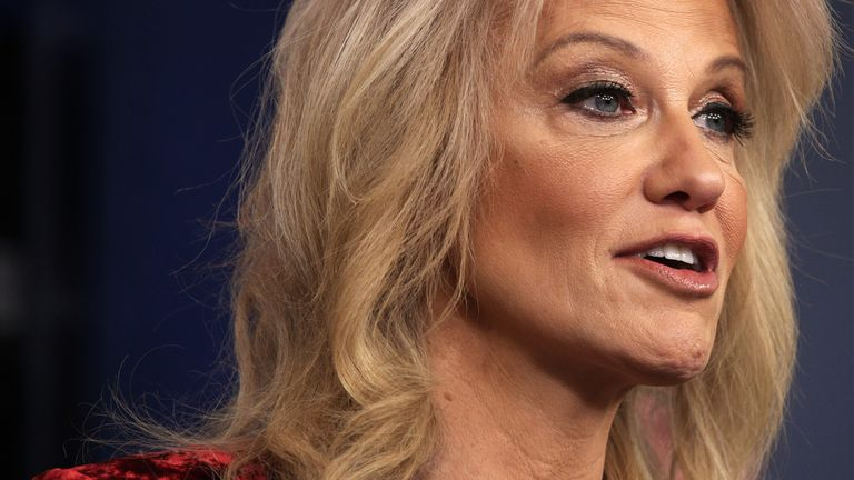 White House Senior Counselor Kellyanne Conway speaks during a news briefing at the James Brady Press Briefing Room of the White House January 30, 2020 in Washington, DC.